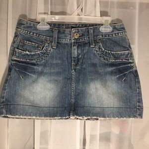 American Eagle Size 0 Short Jeans Skirt - C11